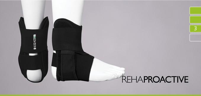 ortezy - ERH 49/1 Tutor unieruchamiający stopę i staw skokowy - Sport